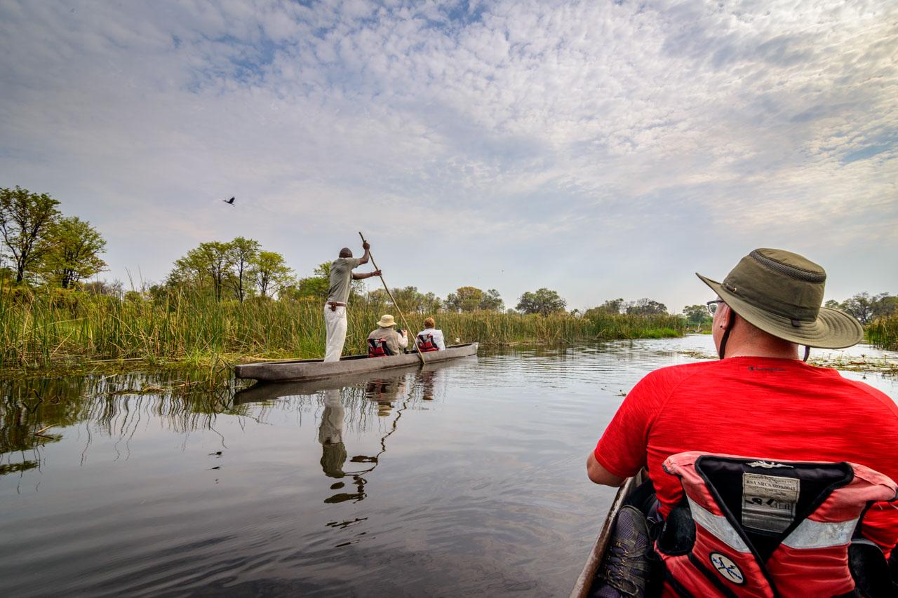 Mokoro ride on the khwai river botswana