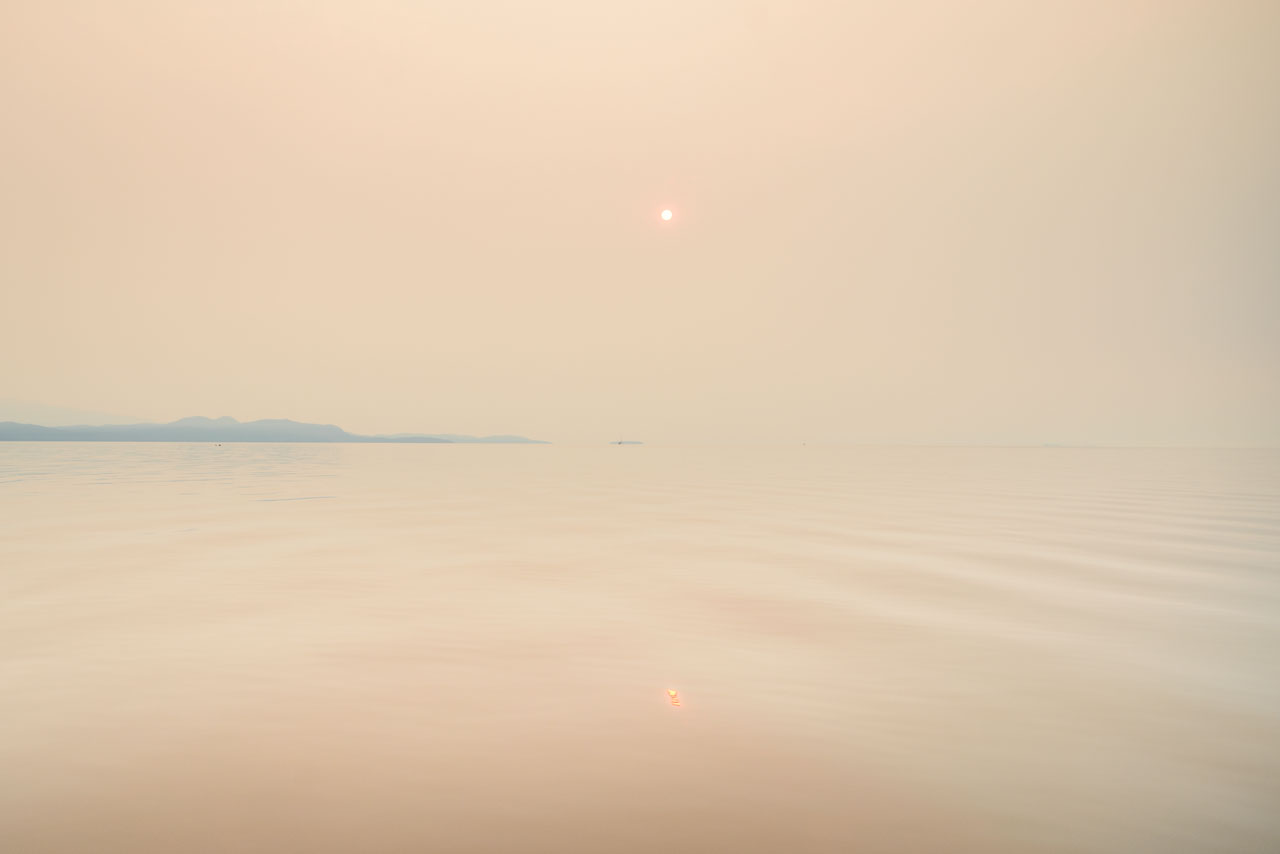 forest fires in bc cause sky to obscure