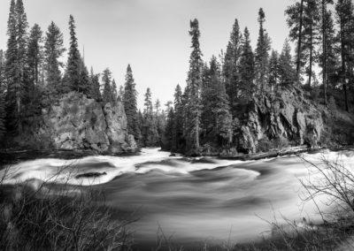 Benham falls in Central Oregon