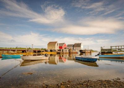 Classic boat houses in Nova Scotia, Canada