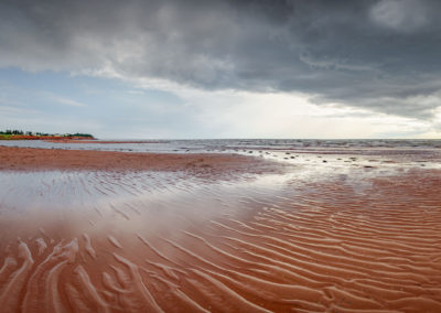 Edless red beaches on Prince Edward Island