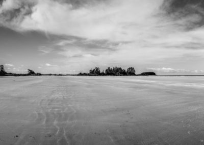Chesterman Beach monochrome image