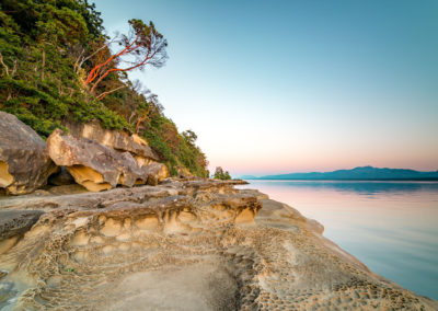 Sublime light at sunset on Hornby Island