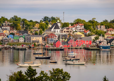 Colourful buildings in Lunenburg. Nova Scotia