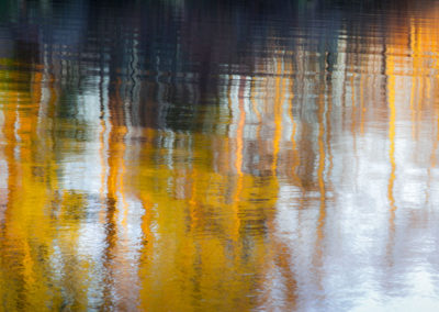autumn colours reflected in water