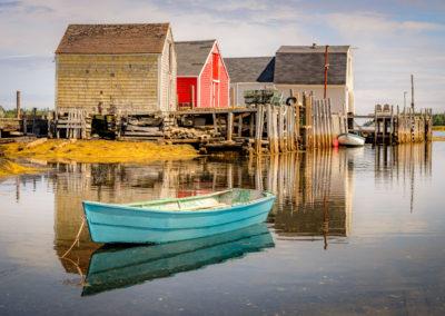Boat houses in Nova Scotia
