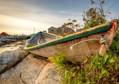 Old skiff in Peggy's Cove, Nova Scotia