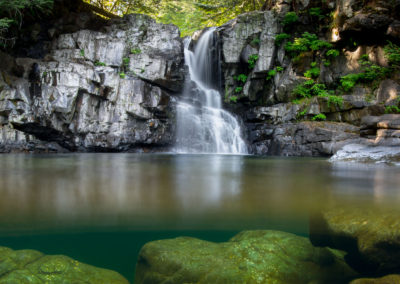 Secret falls near Campbell River