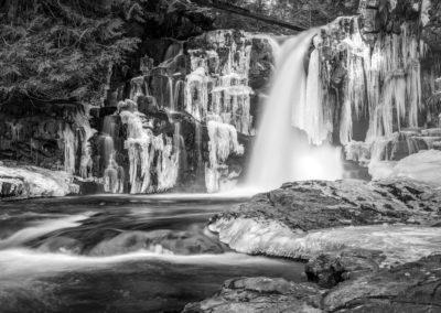 Secret Falls near Campbell River in winter