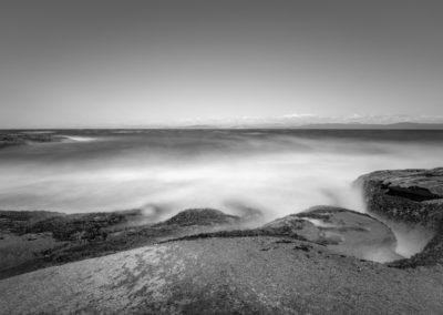 Misty sea scene on Hornby Island