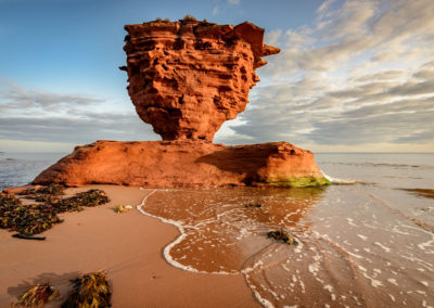 Rock formations on Prince Edward Island