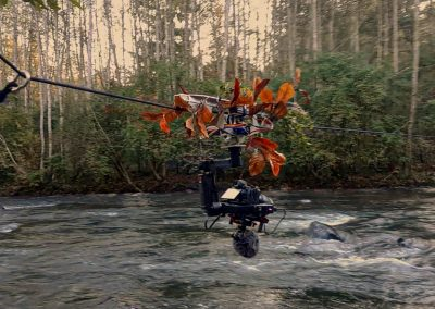 Aerial trolly system for filming overhead environments